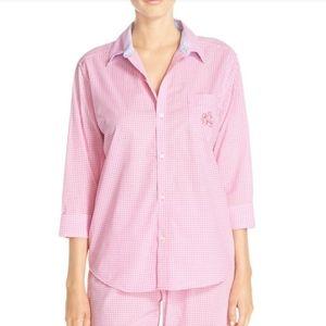 Lauren Ralph Lauren Gigham Capri Pyjama Set EUC